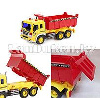 Детская музыкальная игрушка самосвал Wenyi желто-красный (большой)