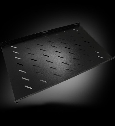 """Полка перфорированная SA.0180.1901, для шкафа глубиной 800, 19"""", L=550mm, black"""