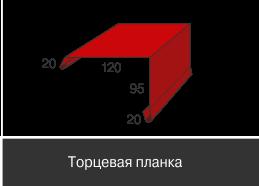 Доборные элементы, Стандарт матовый,Торцевая планка, 120 мм*95 мм
