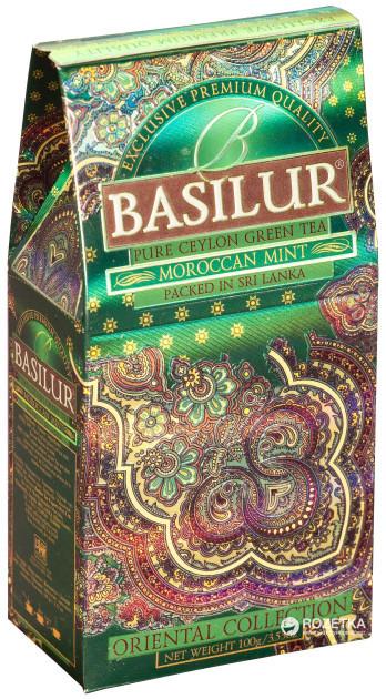 Чай зелёный рассыпной Восточная коллекция Марокканская мята Moroccan Mint, 100гр Basilur