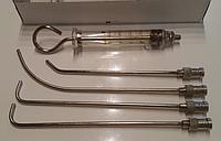 Шприцы - для внутригортанных вливаний и промывания миндалин объемом  5 куб.см