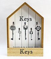"""Ключница шкатулка,""""Keys"""", коричневая, 32*21 см, фото 1"""