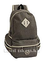 Универсальный школьный рюкзак с ромбиком серый
