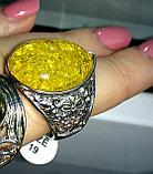 "Кольцо- перстень ""Янтарная капля"", фото 4"