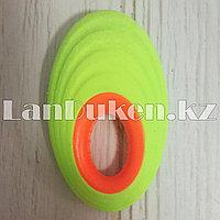 Ластик овальный с держателем в ассортименте зеленый