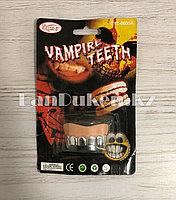 Накладные зубы вампира на Хэллоуин клыки вампира Vampire teeth SYZ-0605A серебристые