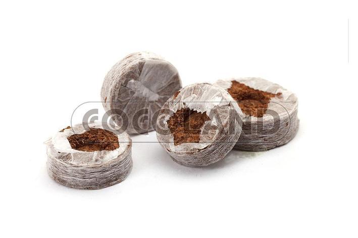 Кокосовый субстрат Cocoland таблетка d 32 мм. 6 штук., фото 2