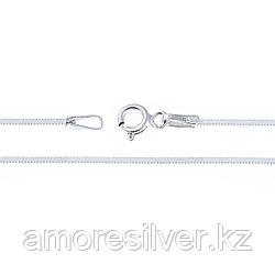 Серебряная цепь бренд TEOSA классика , родирование 40 см Снейк квадратный 4 гр.
