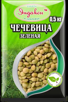 """Чечевица зелёная 500 гр """"Эндакси"""""""
