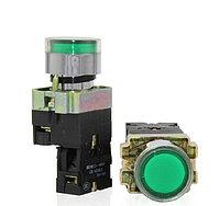 Кнопка пусковая XB2-BW3371 GREEN КПЛ-3371-1НО-ПЗ зелёная с подсветкой