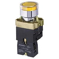 Кнопка пусковая XB2-BW3571 YELLOW КПЛ-3571-1НО-ПЖ жёлтая с подсветкой