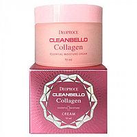Deoproce Cleanbello Collagen Essential Moisture Cream - Увлажняющий коллагеновый крем от морщин
