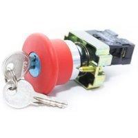 """Кнопка стоповая ХВ2-ВS 142 КСЛ142-1НЗ-ГК """"Грибок""""с ключом"""