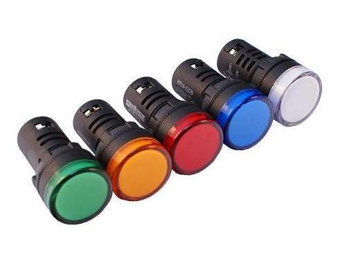 Арматура сигнальная диодная AD16-22DS (АС-22Л-Д) 220V AC; 24V AC/DC (зеленая, красная, желтая, белая) д.22 мм