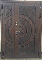 Дверь стальная двупольная с влагостойким МДФ и покрытием Винорит пр-во Израиль