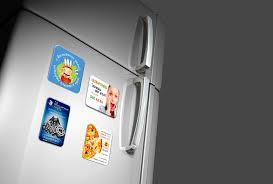 Магниты - визитки на холодильник, винил