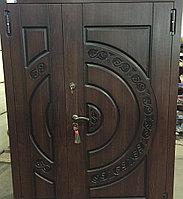 Дверь стальная двупольная с влагостойким МДФ, покрытием Винорит и зеркалом внутри