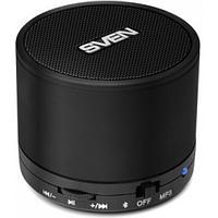 Speaker SVEN PS-45BL, black (3W, Bluetooth, microSD, FM, 300mA*h)