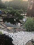 Белоснежная мраморная галька (окатыш) в мешках по 20 кг, фото 3