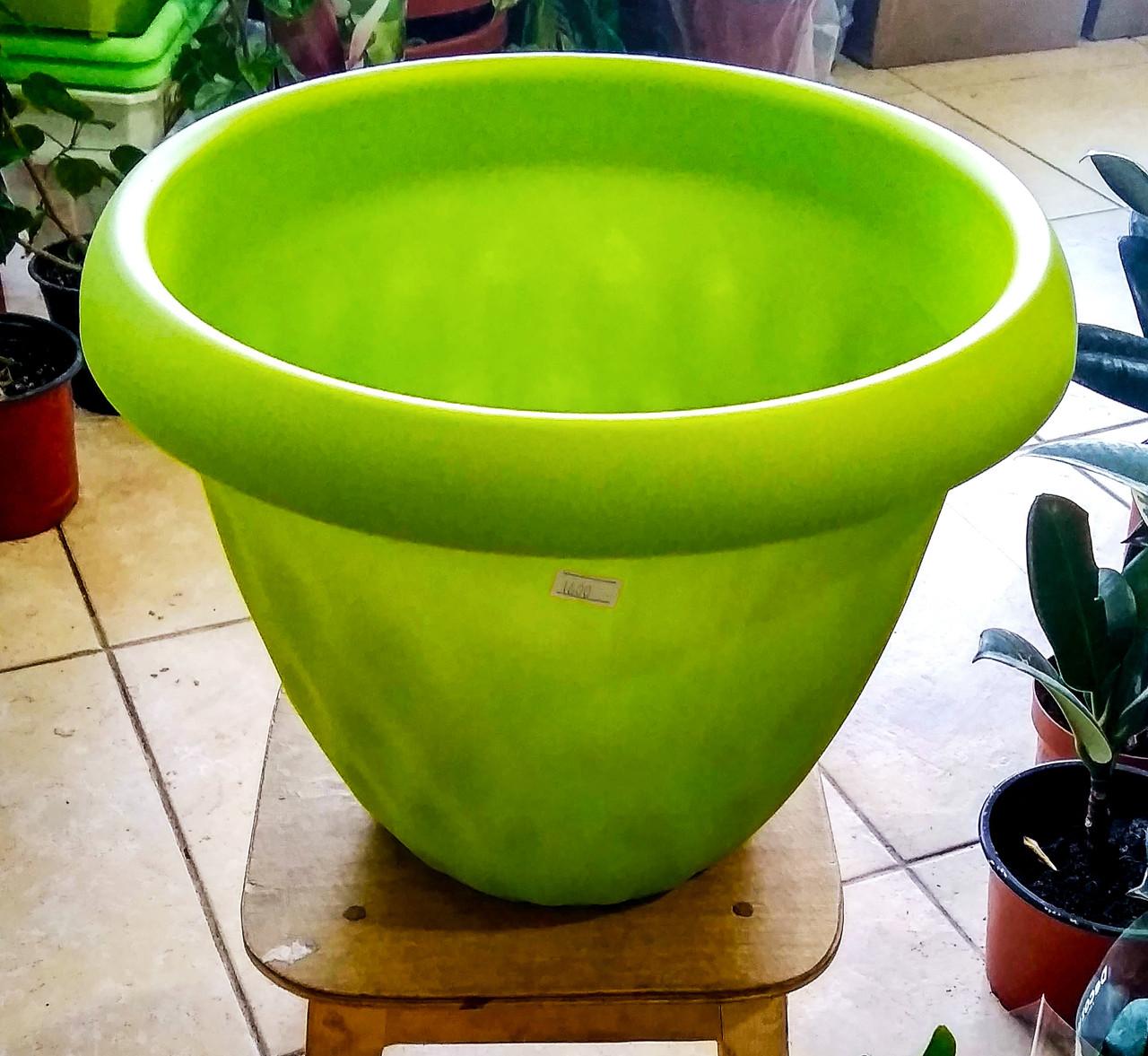 """Горшок для растений """"Розетта"""" 13,0л Д340 c поддоном зеленый С129ЗЕЛ"""