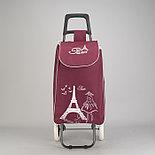 Сумка тележка Париж, цвет бордовый, фото 2