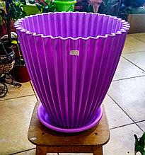 Горшок для растений. Сиреневый с поддоном. Размер: 310x310