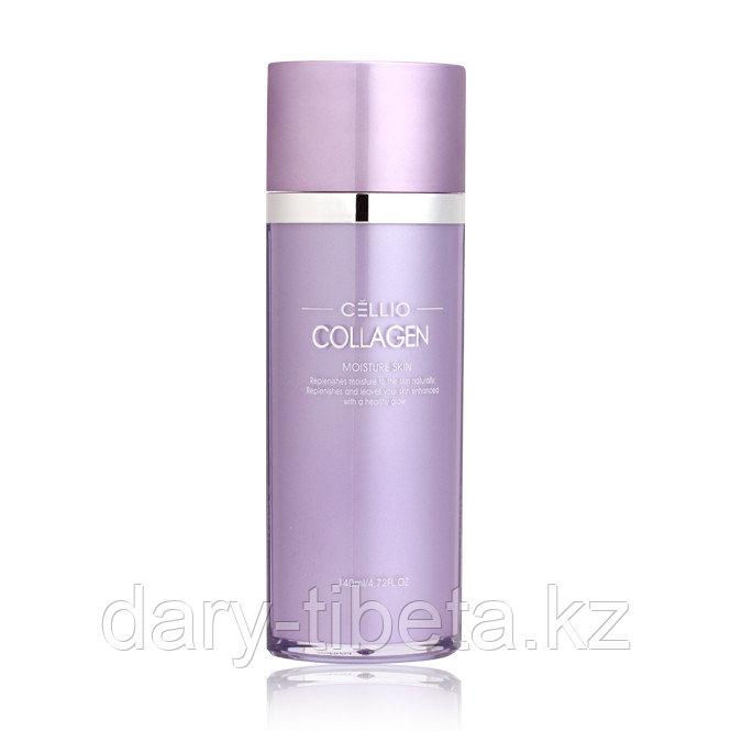 Cellio collagen moisture skin -тоник для лица с коллагеном