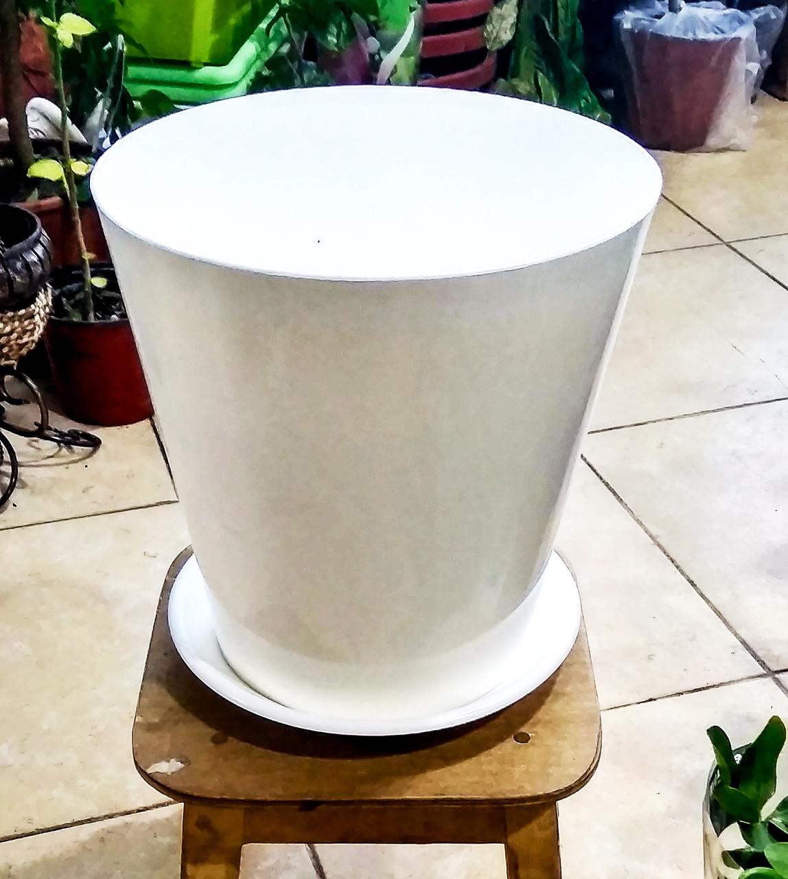 Горшок для растений. Вулкано. 8.1л. Цвет: Белый.