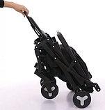 Коляска Mstar (Baby Grace) с чехлом на ножки Темно-серый, фото 3
