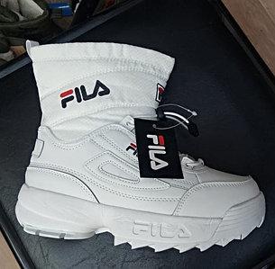Кроссовки Fila Disruptor 2 white зимние размеры 36-40