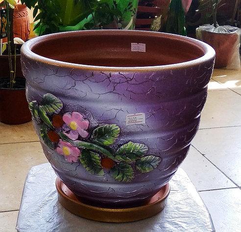 Керамический горшок для цветов. Объем: 3л., фото 2
