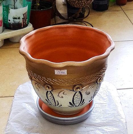 Керамический горшок для цветов. Объем: 0.5л., фото 2