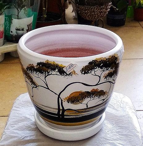 Керамический горшок для цветов. Объем: 1.5л., фото 2
