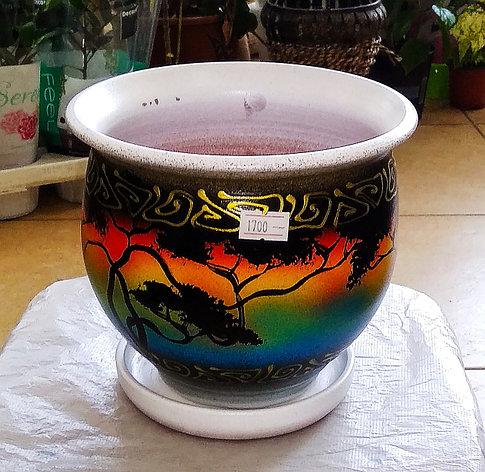 Керамический горшок для цветов. Объем: 1л., фото 2