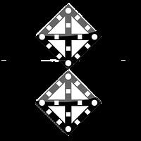 Железнодорожные знак Gd-09 поднять нож, закрыть крылья два препятствия