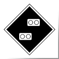 Железнодорожные знак Gd-13 внимание! Токораздел