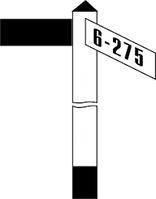 Железнодорожные знак Gd-32 путевой уклоноуказательный знак