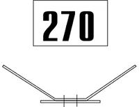 Железнодорожные знак Gd-33 путевой особый знак номера стрелки