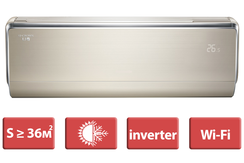 Кондиционер Gree: GWH12UB серия U-crown Inverter (GOLD)