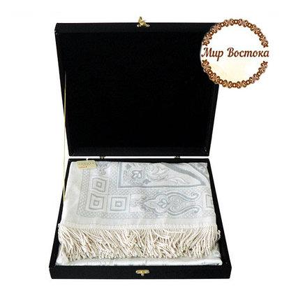 Мусульманский сувенир. Подарочный жайнамаз в черной бархатной шкатулке, фото 2