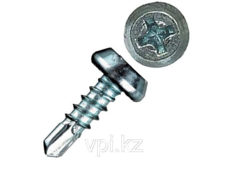 Саморез TEX (текса) по металлу, со сверлом,белый 3.9*11мм