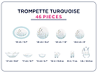 Столовый сервиз Luminarc Simply Trompette Turquoise 46 предметов на 6 персон, фото 2
