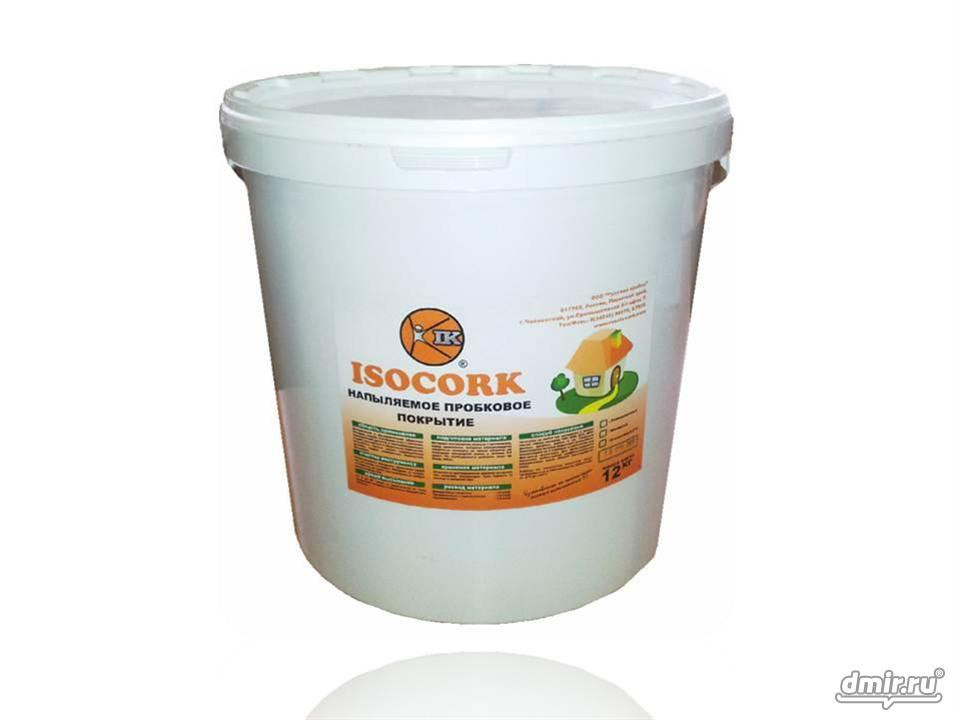 Напыляемое пробковое покрытие ISOCORK 1 кг