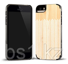 PRINTED FEATHER BAMBOO CASE