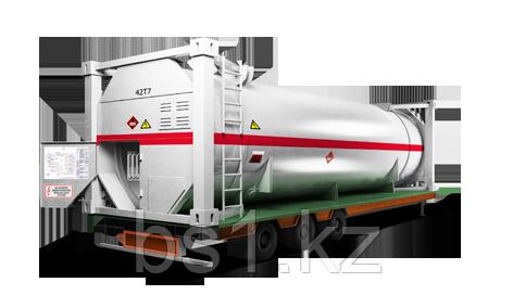 Контейнеры для перевозки жидкого газа с заправочной станцией