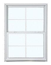 2024 300 Insulated Glass 4/4 White Single Hung Window