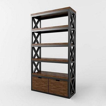 Стеллаж в стиле Лофт (металлическое основание), фото 2