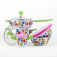 Детский набор эмалированной посуды Кроха