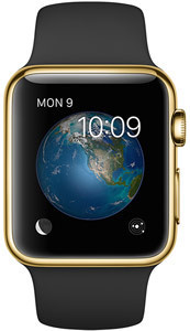 Apple Watch Edition, 38 mm. / Gold Sport Black