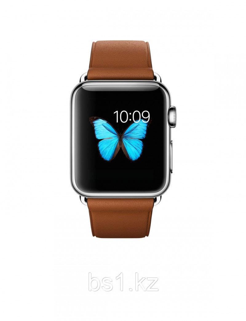 Apple Watch 38 мм, Классическая пряжка (Золотисто-коричневая кожа)
